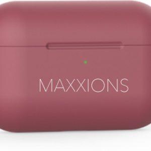 Maxxions® Siliconen Case Cover Hoesje geschikt voor AirPods Pro - Donker Rood
