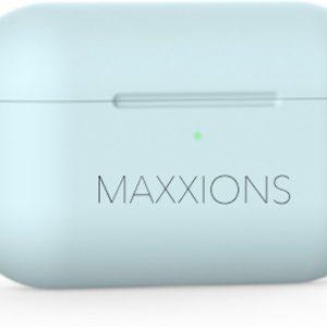 Maxxions® Siliconen Case Cover Hoesje geschikt voor AirPods Pro - Licht Blauw