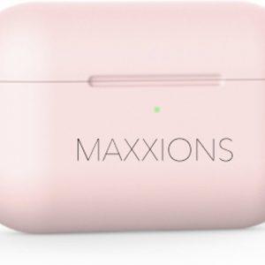 Maxxions® Siliconen Case Cover Hoesje geschikt voor AirPods Pro - Licht Roze