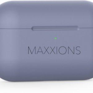 Maxxions® Siliconen Case Cover Hoesje geschikt voor AirPods Pro - Paars