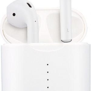 Novus V2 Draadloze oortjes - Alternatief Airpods - Nieuwste generatie - Bluetooth In-ear Oordopjes - Gratis Siliconen Beschermhoes + Anti-lost Strap - Wit