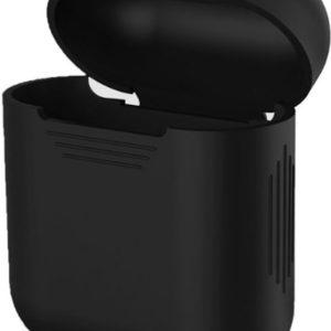 Silicone Case Cover Hoesje geschikt voor Apple Airpods - Zwart