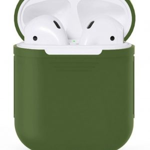 Silicone case - Airpod case - Bescherm hoesje voor Apple AirPods - Army Green