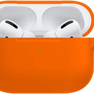 Siliconen Bescherm Hoes Voor Apple AirPods Pro Case Hoesje - Oranje