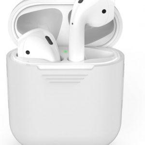Siliconen Bescherm Hoesje Cover Wit voor Apple AirPods 1+2 Case