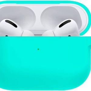 Siliconen Bescherm Hoesje Voor Apple AirPods Pro Case Hoes - Mintgroen