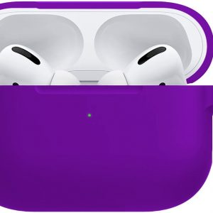 Siliconen Hoes Cover Voor Apple AirPods Pro Hoesje Case - Paars