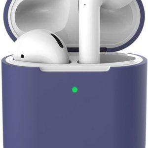 Apple AirPods Flexibel Zacht Siliconen Hoesje Donker Blauw