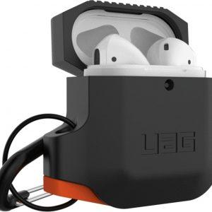 Apple Airpods Silicone Case-Black/Orange