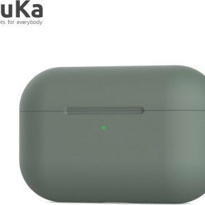 Bescherm Hoes Cover Case voor Apple AirPods Pro (Siliconen) - Donkergroen