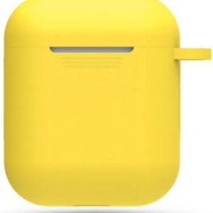 Hidzo hoes voor Apple's Airpods - Siliconen - Geel
