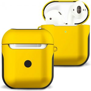 Hoes Voor Apple AirPods 1 Hoesje Case Hard Cover - Geel