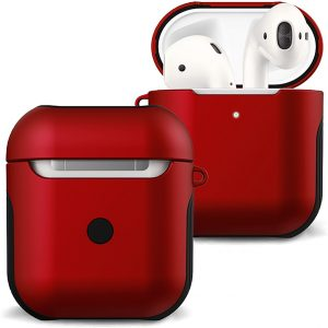 Hoes Voor Apple AirPods 1 Hoesje Case Hard Cover - Rood