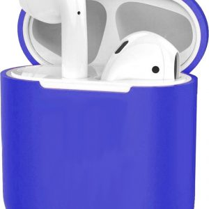 Hoes voor Apple AirPods 1 Case Silicone Hoesje Ultra Dun - Donkerblauw