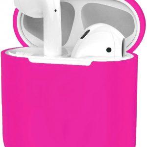Hoes voor Apple AirPods 1 Case Siliconen Hoesje Ultra Dun - Donkerroze