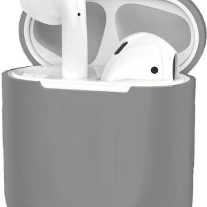 Hoes voor Apple AirPods Hoesje Case Siliconen Cover Ultra Dun - Grijs
