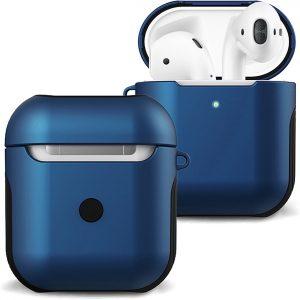 Hoesje Voor Apple AirPods 1 Case Hard Cover - Donker Blauw