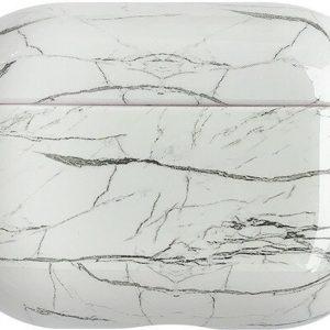 Marmer Case Cover voor Airpods Pro - Beschermhoes - KELERINO. - Wit