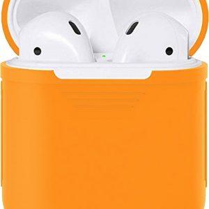 Siliconen Bescherm Hoesje Case Cover Oranje voor Apple AirPods 1 en 2