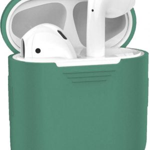 Siliconen Bescherm Hoesje voor Apple AirPods Case - Midnight Green
