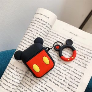 Siliconen Cartoon Bescherm Hoesje Cover voor Apple Airpods Case - Mickey Mouse