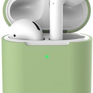 Siliconen case   geschikt voor airpods   pastel groen