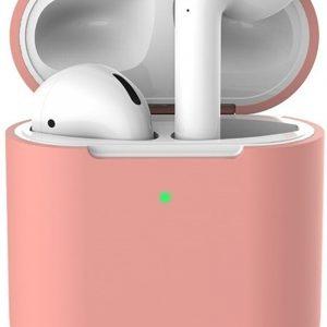 Siliconen case   geschikt voor airpods   pastel roze