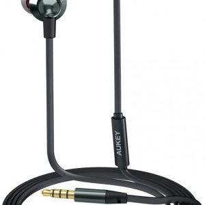 AUKEY In Ear hoofdtelefoon, Bedrade hoofdtelefoon Bas Stereo Oordopjes Headset met microfo