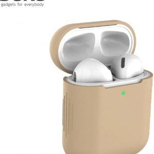 Bescherm Hoes Cover Case voor Apple AirPods (Siliconen) - Lichtbruin