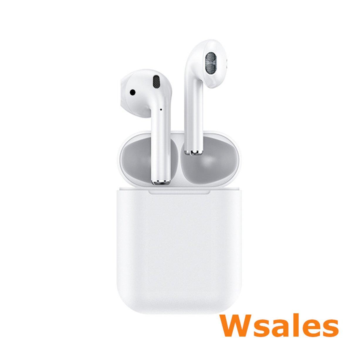 Draadloze Bluetooth oortjes in ear | Draadloze oordopjes in ear | Wit | True Wireless Sound | Alternatief op AirPods | Bluetooth 5.0 | Touch bediening | Stereo geluid | Headset | Individueel te gebruiken | Wsales