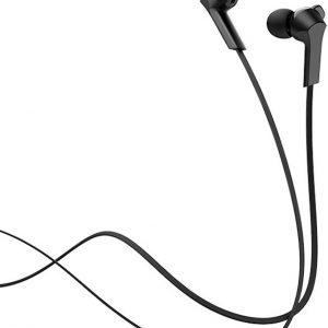 Hoco in-ear oordopjes 3.5mm Jack Plug - 1.2m - Hi-Res Audio + HD Mic - Zwart