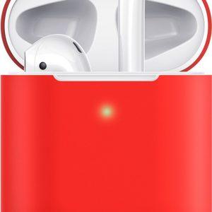 Hoesje / case / beschermhoesje geschikt voor Apple Airpods (gen. 1 &2) - ESR - Zeer mooi ontworpen hoesje, kwalitatief - Breeze- geschikt voor draadloos opladen & met led indicator opening - ROOD