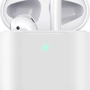 Hoesje / case / beschermhoesje geschikt voor Apple Airpods (gen. 1 &2) - ESR - Zeer mooi ontworpen hoesje, kwalitatief - Breeze- geschikt voor draadloos opladen & met led indicator opening - WIT