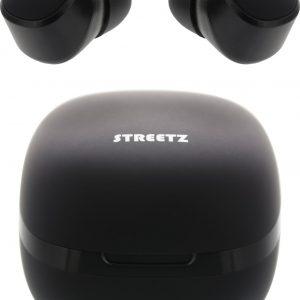 STREETZ TWS-0001 Volledig draadloze in-ear oordopjes IPX6 - Met oplaadcase - Zwart