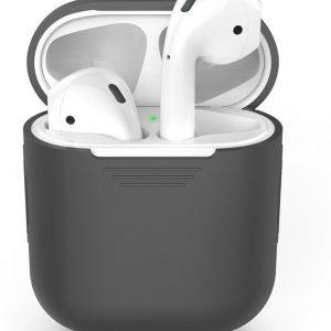 Siliconen case   geschikt voor airpods   grijs