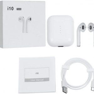 i10 TWS EXCLUSIVE |Draadloze oordopjes | met draadloos oplaadbare oplaadcase | Wireless charging | Inclusief Pop Up