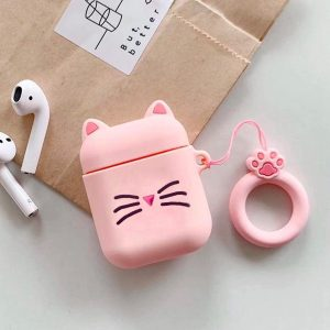 Airpods Hoesje   Airpods Case   Dieren   Kat   Poes   Roze