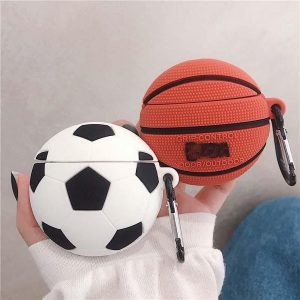 Airpods Hoesje   Airpods Case   Zacht Rubber   Sport   Basketbal