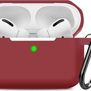 Airpods Pro Hoesje - Siliconen Soft Case - Bordeaux Rood