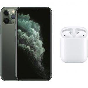 Apple iPhone 11 Pro 256GB Midnight Green + Apple AirPods 2 met oplaadcase