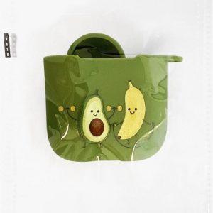 Hidzo hoes voor Apple's Airpods - Hard Case - Banaan Avocado - Groen