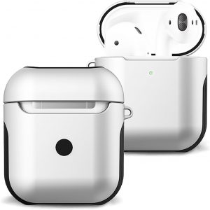 Hoes Voor Apple AirPods 1 Case Hoesje Hard Cover - Wit