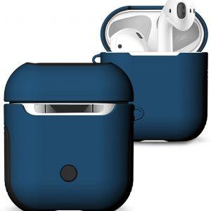 Mobigear Frosted Hard Kunststof Hoesje Blauw voor Apple AirPods
