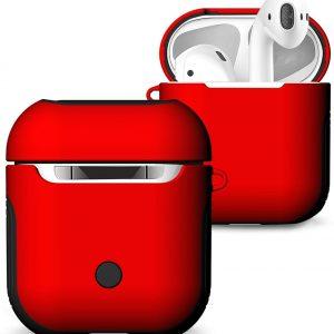 Mobigear Frosted Hard Kunststof Hoesje Rood voor Apple AirPods