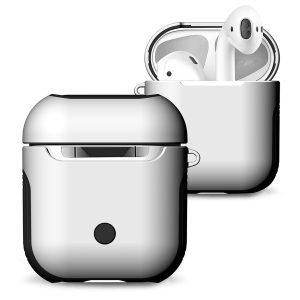 Mobigear Frosted Hard Kunststof Hoesje Wit voor Apple AirPods