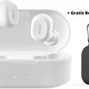 QCY T2C GS2 (2e gen) - TWS True Wireless Stereo - Draadloze Oordopjes - BT Oortelefoon - Bluetooth 5.0 - Microfoon - In-Ear Oortjes - Gratis Beschermhoes - Wit