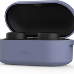 QCY T2C met de NIEUWE realtek VPH chip! | Volledig draadloze oordopjes | BT 5.0 | Zwart met blauwe siliconen case