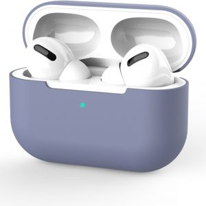 Siliconen Case Apple AirPods Pro blauw- AirPods hoesje blauw/paars - AirPods case