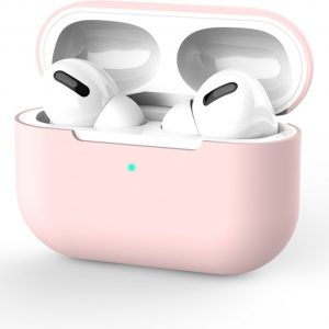Siliconen Case Apple AirPods Pro roze- AirPods hoesje roze - AirPods case
