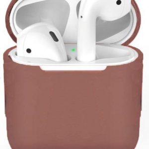 Siliconen case geschikt voor Apple Airpods - Bruin
